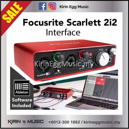 Focusrite Interface / Recording System, Scarlett 2i2 with Solfware, Music Record