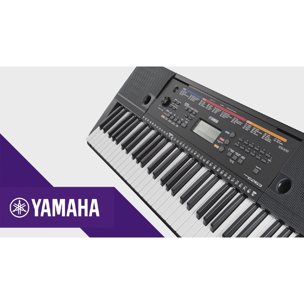 Yamaha Keyboard PSR E263, Portable Keyboard, Electric Keyboard (E-263, E 263) 61 Keys, Electronic Piano